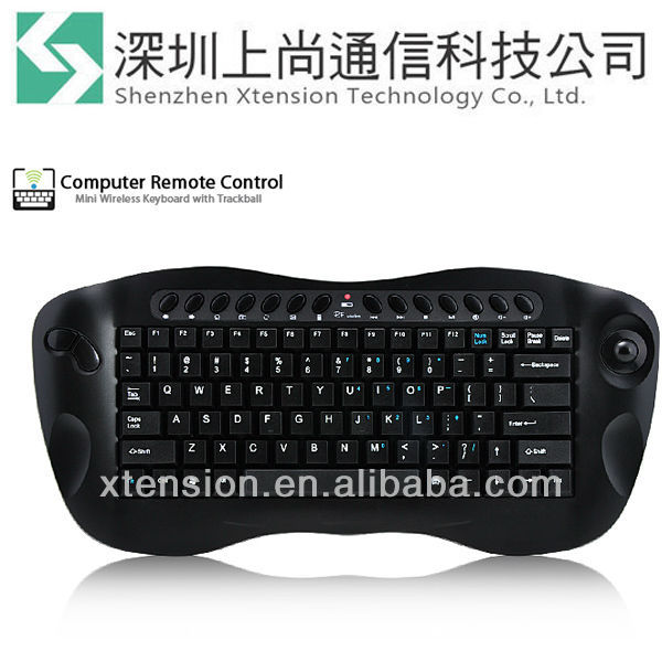 New RF 2.4Gh Wireless Computer Remote Control 2.4G Mini Keyboard with Trackball