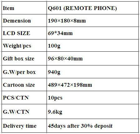 Using LED indicator big keypad phone for senior GW-Q601