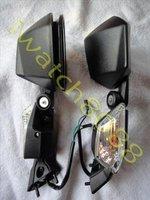 Боковые зеркала и Аксессуары для мотоцикла Black Mirrors KAWASA NINJA ZX10R ZX 10R 2008 2009 10 C02