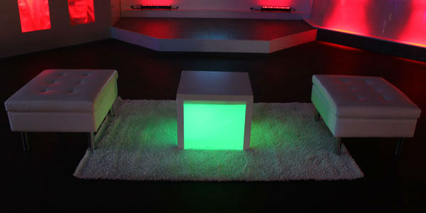 High Quality Modem Led Lounge Bar Furniture/light Up Led Cube Chair CFL Led Table BC 3