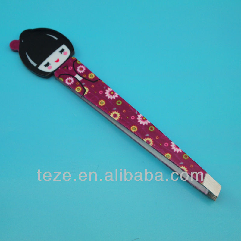 MJ-86 With pink box fashional design mirror finished fashion tweezers