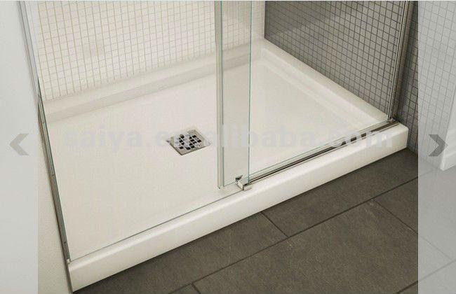 Sus304 sans cadre verre de porte coulissante de douche for Porte coulissante en verre pour salle de bain