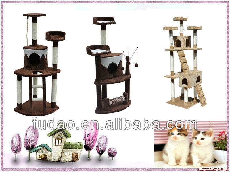 Top Cat Fashionable Cat Tree Furniture plush cat tree