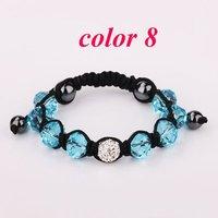 Браслет из бисера Shambala Charm Disco Ball Bead White Bracelet New T-Paris Shambhala Rhinestone Crystal Fashion Jewelry Shamballa