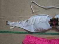 Женское бикини 2013 BIKINI! High Quality Original Victoria BIKINI White Bras+Red Pants With Pad Inside Size XS/S/M 5106