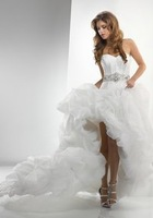 Свадебное платье White Organza Ball Gown Black Ribbon 2012 Design Sexy Short Wedding Dresses 2013