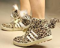 Женские кеды Star Love Leopard Smart Studded Platform Casual Sneakers Drop Shipping 3007