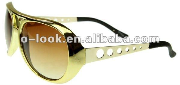 Large Elvis King of Rock Rock & Roll TCB Aviator Sunglasses