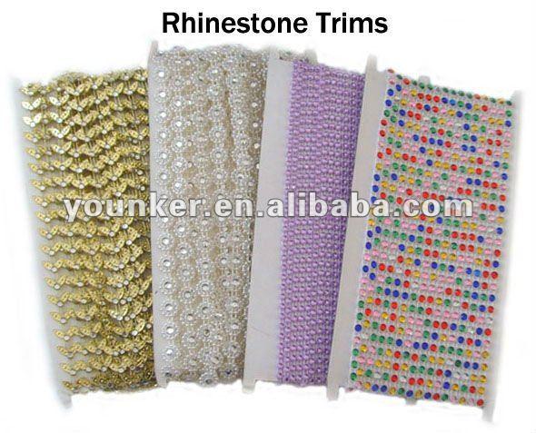 2012 Fashion Decorative Rhinestone Trimming,Crystal Rhinestone Trimming,Plastic Rhinestone Trimming