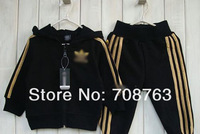 Комплект одежды для девочек 5 sets/lot children sporty suit king & queen's Imperial crown jacket hooded sweatshirt + pant baby wear kids suit