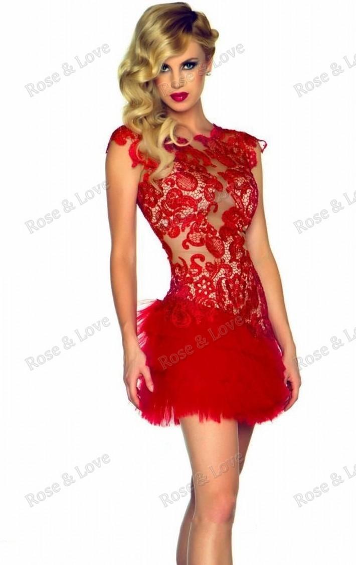 9a25d675c78 Robe cocktail rouge robe grise de soirée