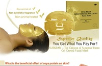 Pure Quality Luxurious Gold Collagen Crystal Beauty Spa Face Facial Mask Sheet Free Shipping