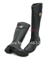 2012 sexy ladies boots brown genuine leather flats women boots winter boots fur