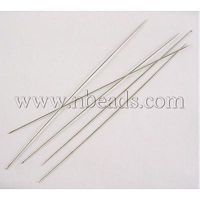 Утюг Бисероплетение NeedlesSize : 0,45 мм толщиной , 120 мм длиной , отверстие : 0.5мм , около 30 45pcs...
