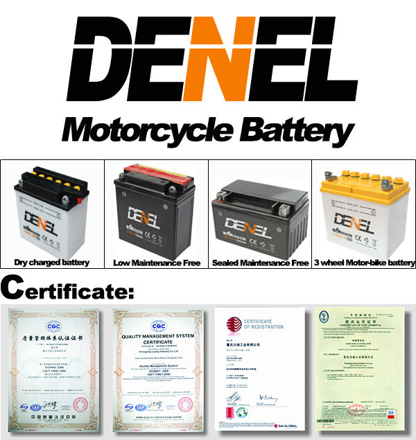 lead acid electric motorcycle parts Motocicleta Batteries12v 7AH (12N7B-3A))