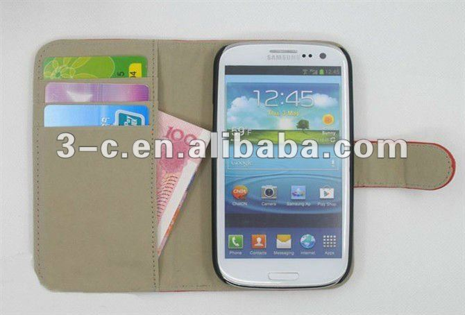leather flip case for samsung s3 & note