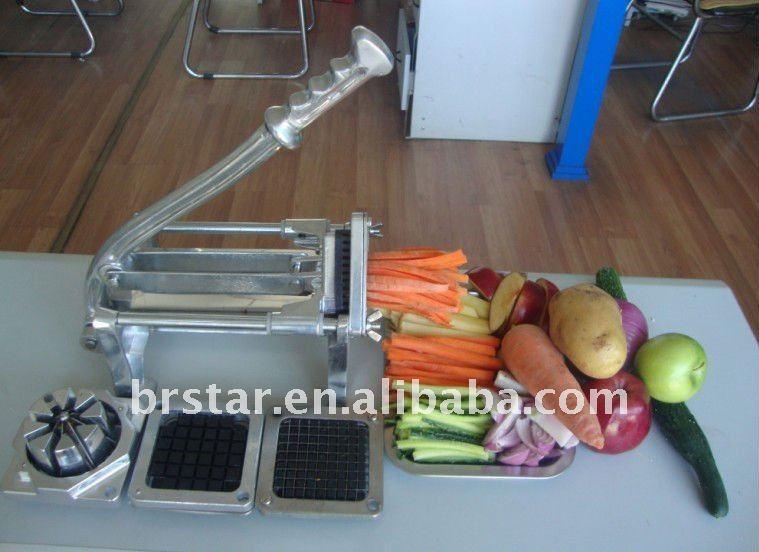 manual aluminum vegetable cutter / potato cutter