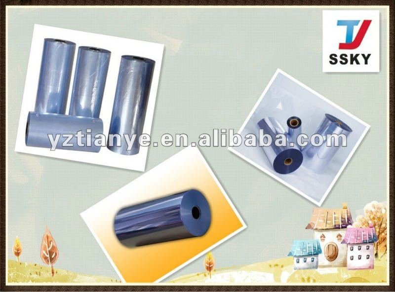 Rigid clear PVC sheet in roll