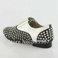 Мужские кроссовки 2011-2012 brand new rivets men's casual shoes, genuine leather shoes