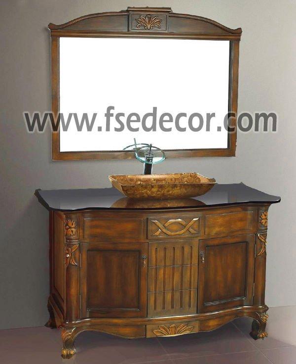 Muebles De Baño Antiguos:de pie libre fregadero de cristal antiguo cuarto de baño muebles de