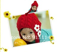 new autumn and winter , Korean Children 's dual ball cap pearl ear protection knitted hats.Fashion hat ,Free shipping