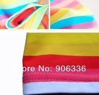 Корея стиль сексуальных женщин конфеты цвет хлопка Радуга платье с полосами