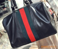 Сумка через плечо ladies' PU Hand bag, fashion handbag, clutch bag, Inclined shoulder bag black KA08