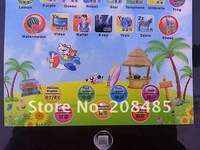 Обучающий компьютер для детей 1pcs Pad English/Chinese Computer Learning Machine, pad touch table computer, Kid learning word and Letter good assitant, 3 color
