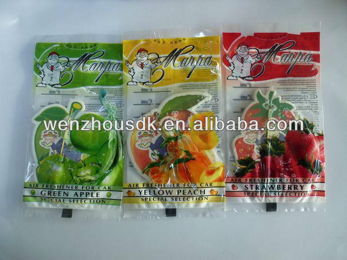 fruit scent hanging car freshener