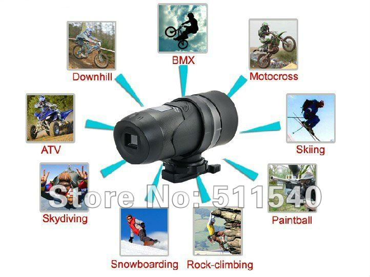 Free Shipping Waterproof Sport Helmet Video Camera Action Outdoor Camera,Sport Camera, Wholesale Helmet Camera Lots  AT18