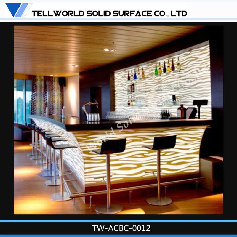 2014 New Year Bar Counter Design Restaurant Small