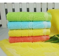Size 34*76 cm Bamboo cotton big flowers rainbow towel towels quality goods couple towel MT0050