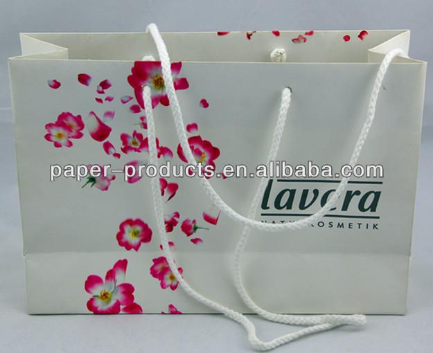 China Manufacturer Lavera White Large Paper Shopping Bag
