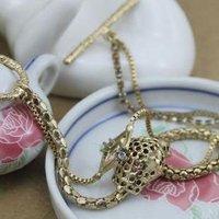 Ювелирное изделие Luxury Female Goldtone Alloy Rhinestone Leopard Head Bracelet.by64