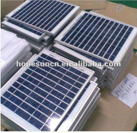 160w polysilicon wafer solar panel with tuv