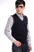 Мужской жилет Let you become the focus~A variety of colors ultra-soft sleeveless sweater vest