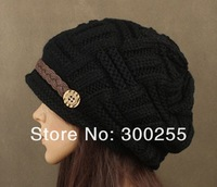 2012 new south korean style women winter warm kintted beanies caps and hats