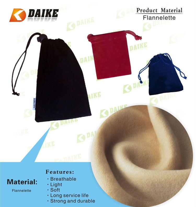 OEM Eco Durable Flannelette mini drawstring bags DK-JL319