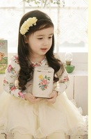Платье для девочек 2011 Fashion Girl Kids Child Elegant Sweet princess Dress Ball Gown multi-layered flower Wear outwear coat