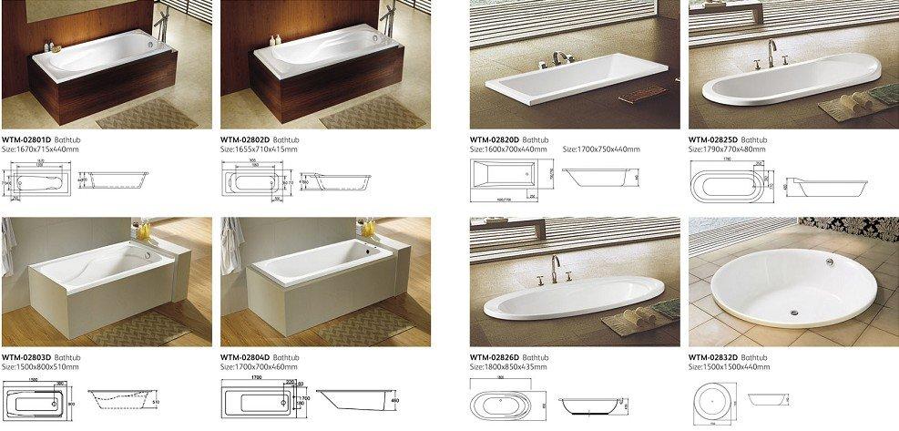 Avental banheira acrílica simples WTM02803Banheiras de hidromassagemID do  -> Tamanho Minimo Para Banheiro Com Banheira