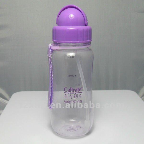 Esporte plástico garrafa de água garrafa de água da escola fácil de transportar