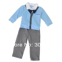 Комплект одежды для мальчиков 2013 latest children clothing cotton coat+pant Spring Autumn children kids suit tie gentleman suit