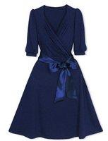 очарование женщины стиль глубокий v воротник бант платье + и розничная торговля