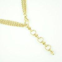 Мода двухслойной ожерелье, смола оформленных, низкая цена, nl-1303a