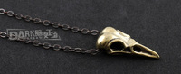 Темная мечта ретро птица черепа кулон панк стиль нейтральных кулон ожерелье дешево