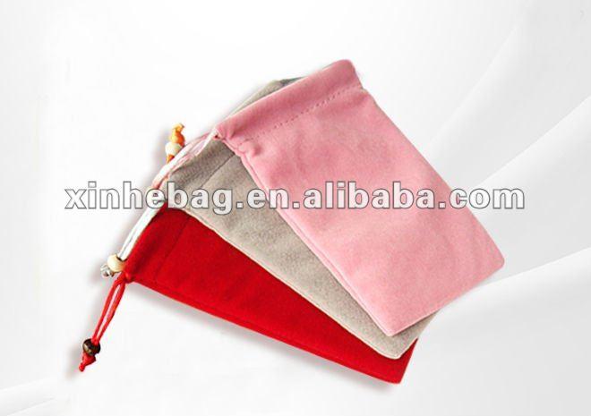 Velvet drawstring bag for iphone