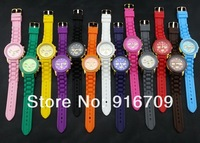 Наручные часы 1pcs New design colorful silicone MK wristband watch good quality jelly Candy MK watches for grils 13colors