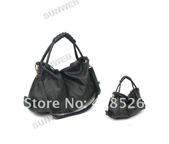 2012 Hot Sale New Korean Style Lady Hobo PU Leather Handbag Shoulder Bag free shipping 3877