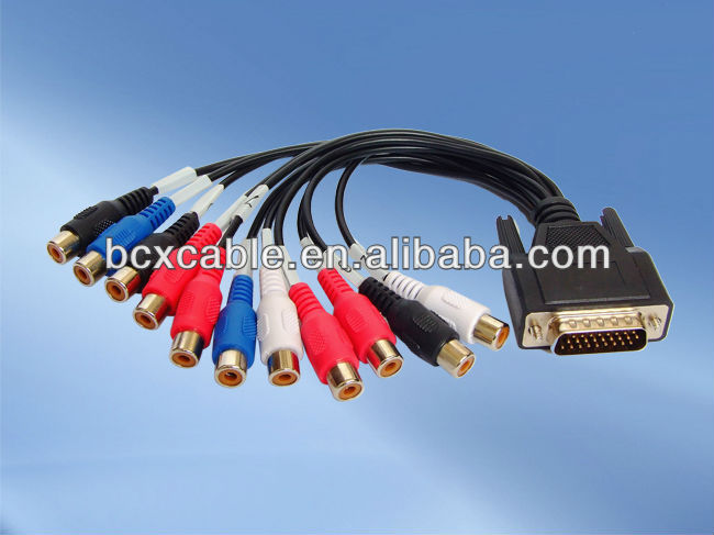 high quality VGA to 3 RCA female cable