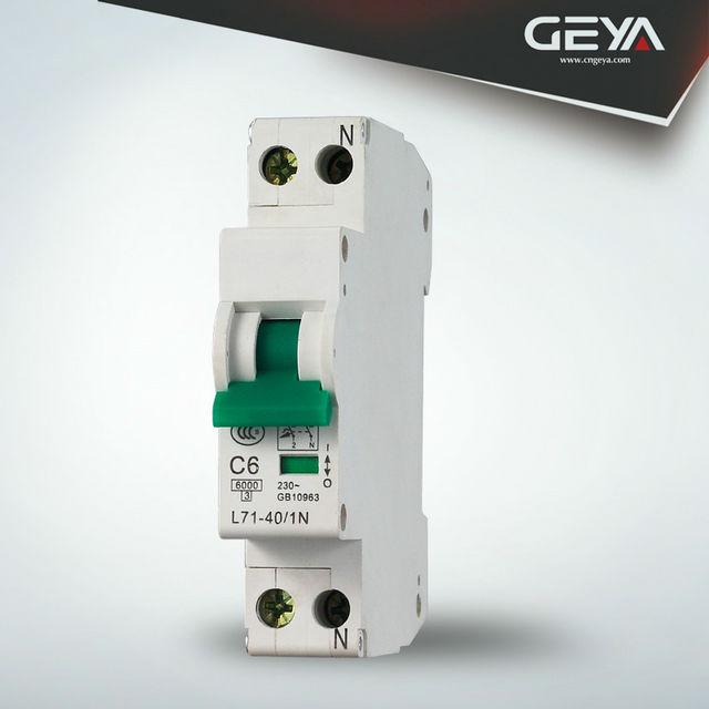 L7 10ka 1p disjoncteur mcb avec 1p, 2p, 3p, 4p mcb